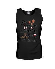 Rottweiler and wine Unisex Tank thumbnail