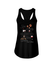 Rottweiler and wine Ladies Flowy Tank thumbnail