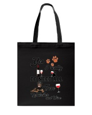 Rottweiler and wine Tote Bag thumbnail