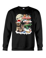 Yorkie christmas greetings 0910 Crewneck Sweatshirt front