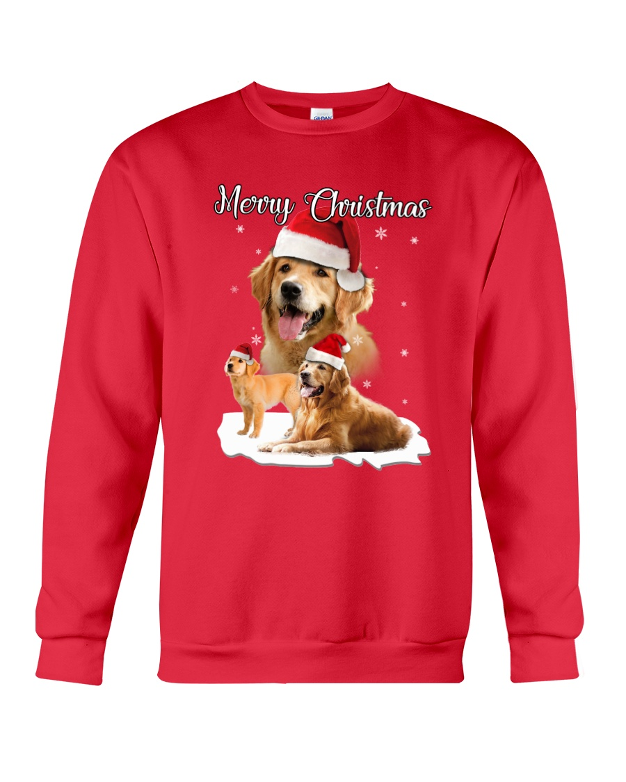 Golden Retriever Merry Xmas 2109 Crewneck Sweatshirt