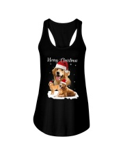Golden Retriever Merry Xmas 2109 Ladies Flowy Tank thumbnail