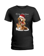 Golden Retriever Merry Xmas 2109 Ladies T-Shirt thumbnail