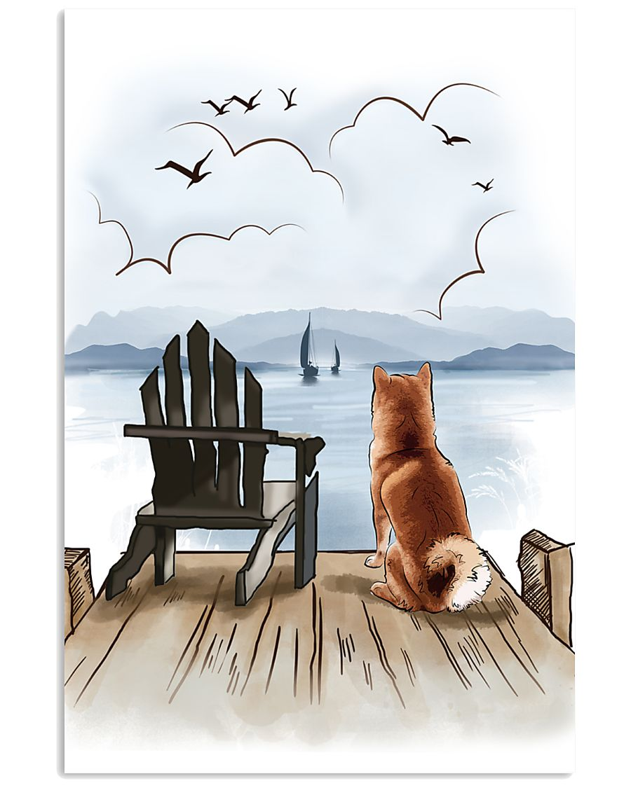 Shiba Inu Waiting Poster 1512  11x17 Poster