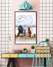 Shiba Inu Waiting Poster 1512  11x17 Poster lifestyle-poster-6