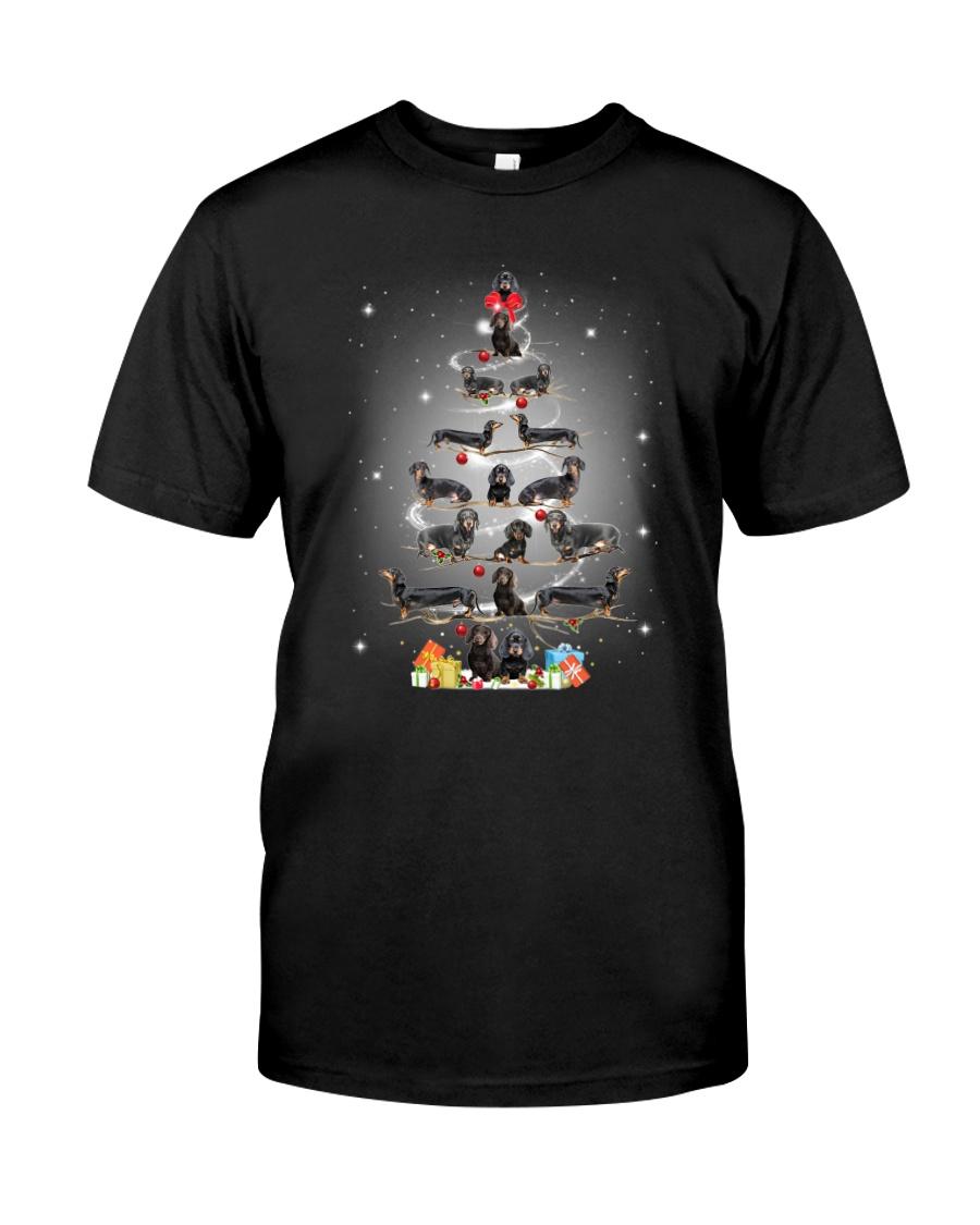 Dachshund Pine Tree 1909 Classic T-Shirt