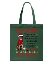 Rottweiler Grandpa Christmas Tote Bag tile