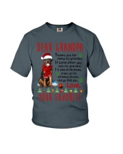 Rottweiler Grandpa Christmas Youth T-Shirt thumbnail