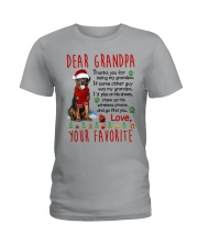 Rottweiler Grandpa Christmas Ladies T-Shirt tile