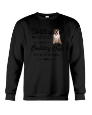 Bulldog Dads Know Everything 1805 Crewneck Sweatshirt thumbnail