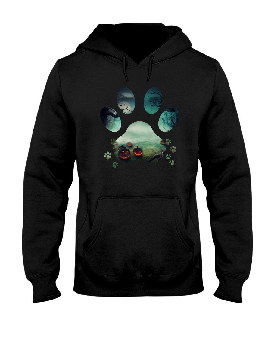 Dog Paw Halloween 1012 Hooded Sweatshirt