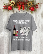 West Highland White Terrier Cannot Survive 3001 Classic T-Shirt lifestyle-holiday-crewneck-front-2