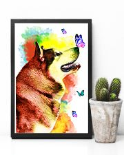 Alaskan-Malamute Colorful Poster 0102  11x17 Poster lifestyle-poster-8