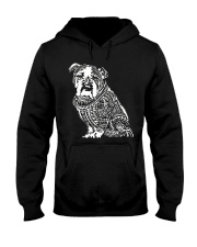 Bulldog Pattern 280218 Hooded Sweatshirt thumbnail
