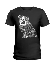 Bulldog Pattern 280218 Ladies T-Shirt thumbnail