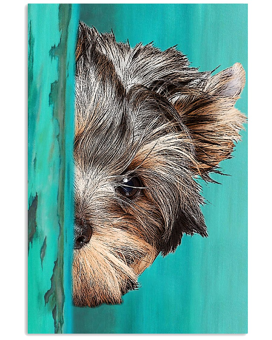 Yorkshire Terrier Half Face 11x17 Poster