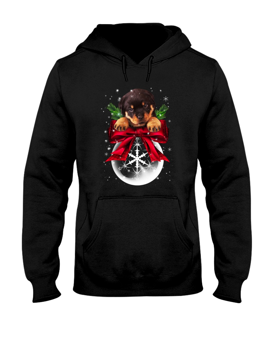 Rottweiler Snowball Hooded Sweatshirt