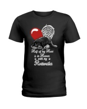 Rottweiler Half Heart 190918 Ladies T-Shirt thumbnail