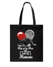 Rottweiler Half Heart 190918 Tote Bag tile
