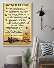 Belgian Shepherd Waiting at The Door 11x17 Poster lifestyle-poster-1