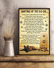 Belgian Shepherd Waiting at The Door 11x17 Poster lifestyle-poster-3