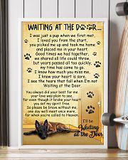 Belgian Shepherd Waiting at The Door 11x17 Poster lifestyle-poster-4