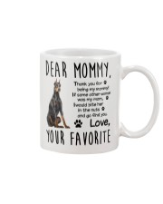 Doberman Pinscher Dear Mommy Mug 2501 Mug front