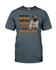 Pug I Will Be Watching 1401 Classic T-Shirt thumbnail