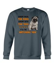 Pug I Will Be Watching 1401 Crewneck Sweatshirt thumbnail