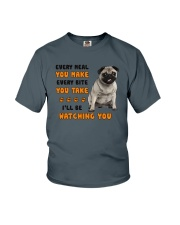 Pug I Will Be Watching 1401 Youth T-Shirt thumbnail