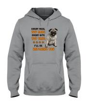 Pug I Will Be Watching 1401 Hooded Sweatshirt thumbnail