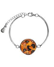 Dachshund Pumpkin Metallic Circle Bracelet thumbnail
