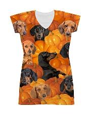 Dachshund Pumpkin All-over Dress thumbnail