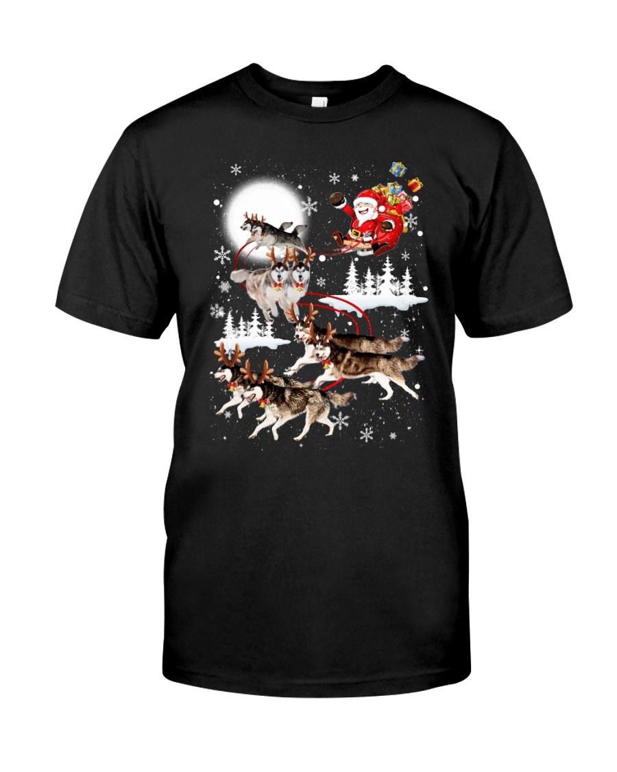 Alaskan Malamute Reindeers 1212 Classic T-Shirt