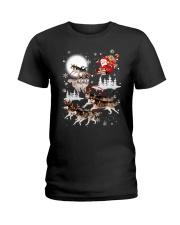 Alaskan Malamute Reindeers 1212 Ladies T-Shirt thumbnail