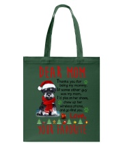 Miniature Schnauzer Mommy Christmas Tote Bag thumbnail