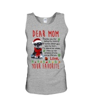 Miniature Schnauzer Mommy Christmas Unisex Tank tile