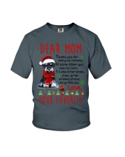 Miniature Schnauzer Mommy Christmas Youth T-Shirt tile