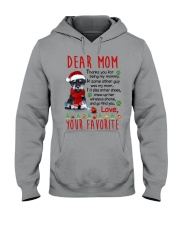Miniature Schnauzer Mommy Christmas Hooded Sweatshirt tile