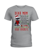 Miniature Schnauzer Mommy Christmas Ladies T-Shirt tile