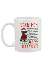Miniature Schnauzer Mommy Christmas Mug back
