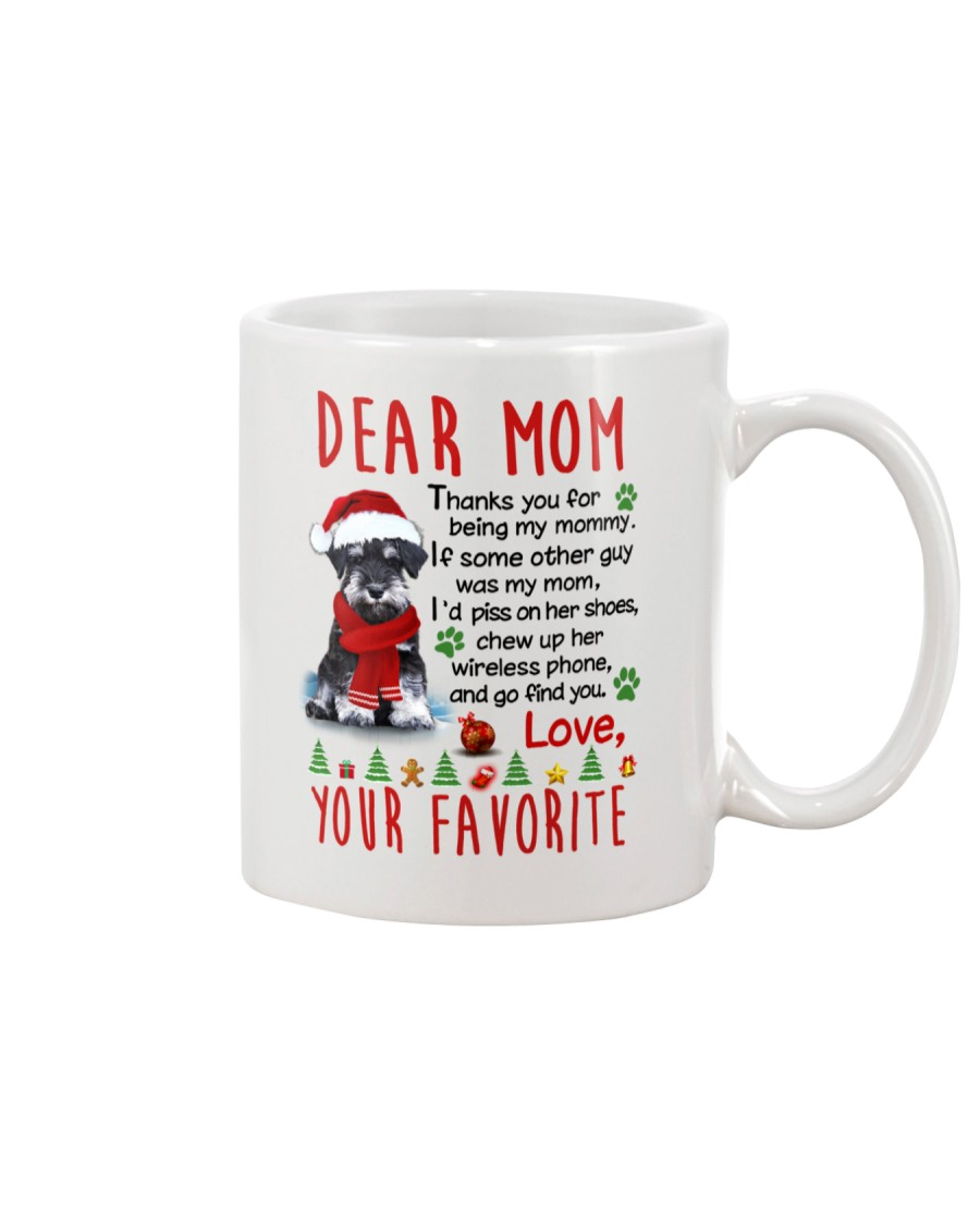 Miniature Schnauzer Mommy Christmas Mug
