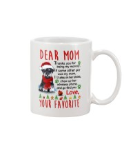 Miniature Schnauzer Mommy Christmas Mug front