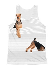 Airedale Terrier stripped All-over Unisex Tank front