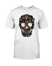 Rottweiler Skull 1012 Classic T-Shirt front