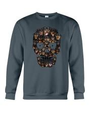 Rottweiler Skull 1012 Crewneck Sweatshirt thumbnail