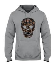 Rottweiler Skull 1012 Hooded Sweatshirt thumbnail