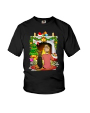 German Shepherd Merry Chritsmas Youth T-Shirt thumbnail