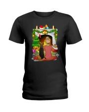 German Shepherd Merry Chritsmas Ladies T-Shirt thumbnail