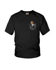 Bulldog Skeleton Pocket 0712 Youth T-Shirt thumbnail